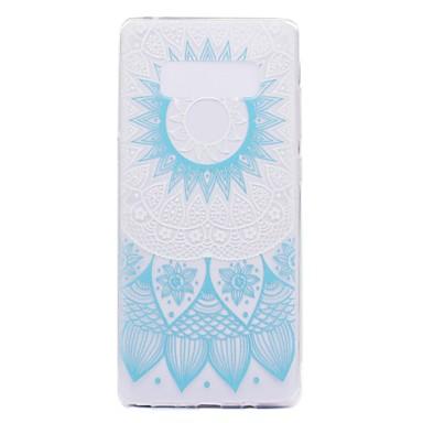 Maska Pentru Samsung Galaxy Note 8 / Note 5 Transparent / Model Capac Spate Floare Moale TPU pentru Note 8 / Note 5