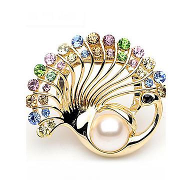 Pentru femei Broșe Ștras Imitație de Perle Lux Modă Imitație de Perle Ștras Altele Auriu Argintiu Bijuterii Pentru Nuntă Cadou