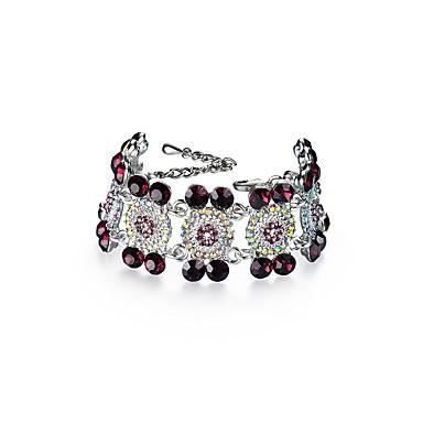 Pentru femei Diamant sintetic Ștras Brățări cu Lanț & Legături - Natură Crăciun Geometric Shape Alb Brățări Pentru Petrecere Logodnă