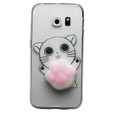 Maska Pentru Samsung Galaxy S8 Plus S8 Transparent Model Reparații squishy Carcasă Spate Pisica Desene 3D Moale TPU pentru S8 S8 Plus S7