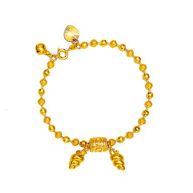 Pentru femei Placat Auriu Brățări cu Lanț & Legături - De Bază Prietenie Rotund Geometric Shape Auriu Brățări Pentru Cadou Dată