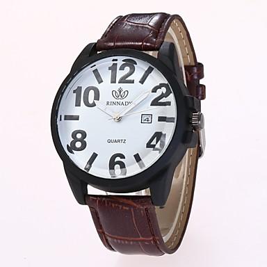 Bărbați Pentru femei Ceas Elegant Ceas La Modă Ceas de Mână Chineză Quartz PU Bandă Casual Negru Maro