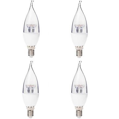 4.5W E14 Becuri LED Lumânare 6 350 lm Alb Cald 2700 K AC220 V 4 buc
