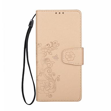 Maska Pentru Samsung Galaxy Note 8 Portofel Titluar Card Întoarce Embosat Model Magnetic Corp Plin Floare Greu PU Piele pentru Note 8