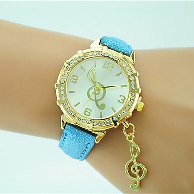 Pentru femei Ceas de Mână Ceas La Modă Quartz Stras Piele Bandă Casual Negru Alb Albastru Orange Verde Auriu Pink