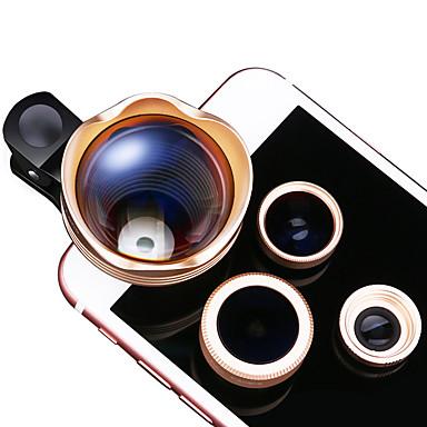 xihama lentilă telefon mobil 3x lentilă focală lungă pește-ochi obiectiv cu unghi larg de lentilă macro lentilă de aluminiu pentru iPhone