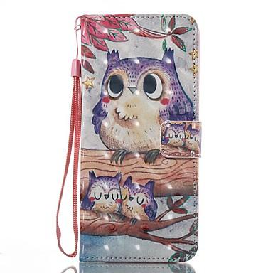 Кейс для Назначение SSamsung Galaxy S8 Plus S8 Бумажник для карт Кошелек со стендом Флип С узором Чехол Сова Твердый Кожа PU для S8 Plus