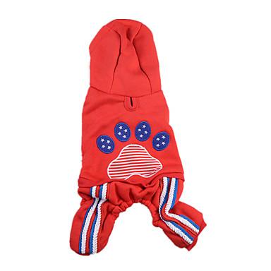 Câine Salopete Îmbrăcăminte Câini Keep Warm Mată Rosu Albastru Costume Pentru animale de companie