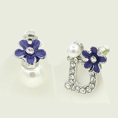 Pentru femei Perechi Desperecheați Imitație de Perle Ștras La modă Personalizat Imitație de Perle Aliaj Flower Shape Bijuterii Bijuterii