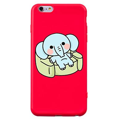 Maska Pentru Apple iPhone 7 iPhone 7 Plus Anti Șoc Model Carcasă Spate Animal Desene Animate Elefant Moale Silicon pentru iPhone 7 Plus