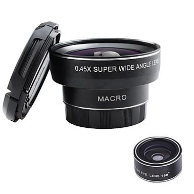 gheață master bz-2 lentilă pentru telefoane mobile 198 lentilă pentru ochi de pește 0.45x obiectiv cu unghi larg de 10x sticlă de aluminiu