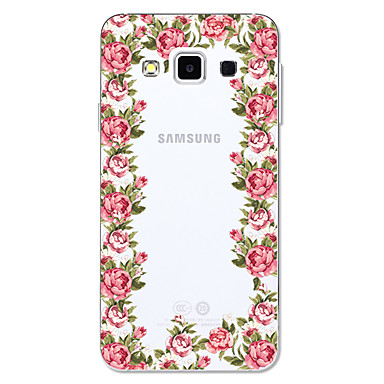 voordelige Galaxy A-serie hoesjes / covers-hoesje Voor Samsung Galaxy A3 (2017) / A5 (2017) / A5(2016) Transparant / Patroon Achterkant Cartoon / Bloem Zacht TPU