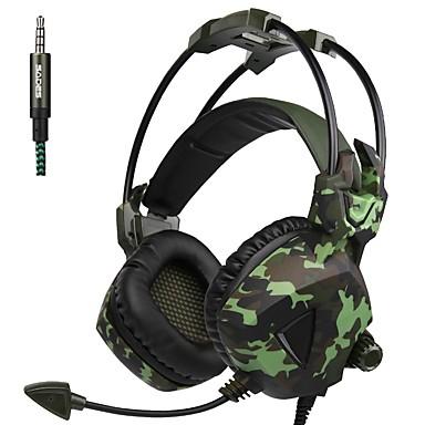 A931 Peste ureche / Cordeluțe Cablu Căști Dinamic Plastic Jocuri Cască Cu controlul volumului / Cu Microfon Setul cu cască
