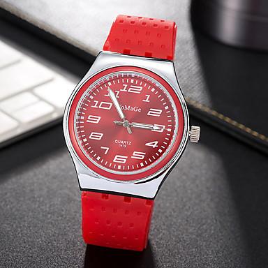 Pentru femei Ceas La Modă Ceas de Mână Unic Creative ceas Ceas Casual Quartz Silicon Bandă Charm Cool Casual Creative Luxos Elegant Negru