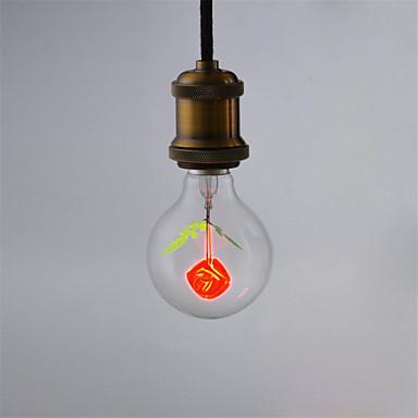1pcs g80 trandafir e27 bec decorativ incandescent lumina aerolux stil pentru casa lampada ac220v