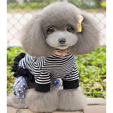 Câine Salopete Îmbrăcăminte Câini Casul/Zilnic Dungi Costume Pentru animale de companie