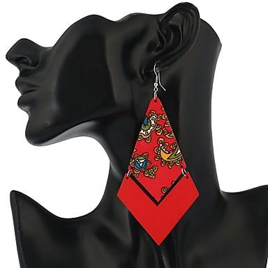 Pentru femei Cercei Picătură - Vintage / Modă Fucsia / Rosu / Albastru Geometric Shape cercei Pentru Casual / Ieșire