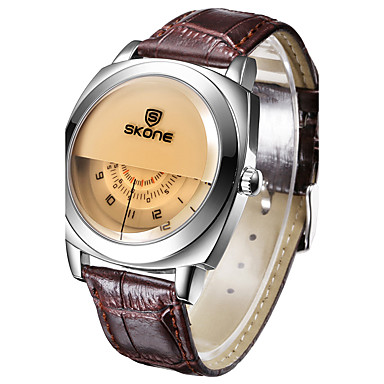 Bărbați / Pentru femei Ceas digital / Ceas de Mână / Uita-te inteligent Chineză Calendar / Creative / Mare Dial Piele Bandă Charm / Lux /