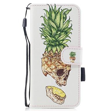 Maska Pentru Samsung Galaxy S8 Plus S8 Titluar Card Portofel Cu Stand Întoarce Model Magnetic Corp Plin Cranii Fruct Greu PU Piele pentru