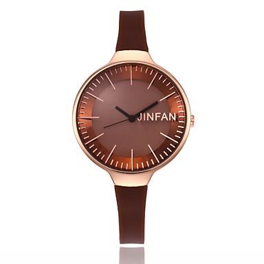 Pentru femei Unic Creative ceas Ceas de Mână Ceas Elegant  Ceas La Modă Chineză Quartz Aliaj Silicon Bandă Charm Casual Negru Alb Roșu