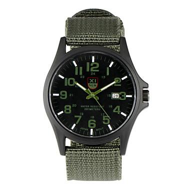 זול שעוני גברים-לזוג שעון יד שעון שדה שחור / כחול / חום מגניב פאנק צג גדול אנלוגי וינטאג' יום יומי אופנתי אריסטו - חום ירוק האנטר שחור / לבן שנה אחת חיי סוללה