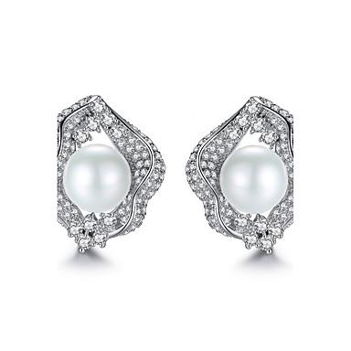 Pentru femei Cercei Stud Zirconiu Cubic Ajustabile Perle Zirconiu Rotund Bijuterii Casual Ieșire Costum de bijuterii