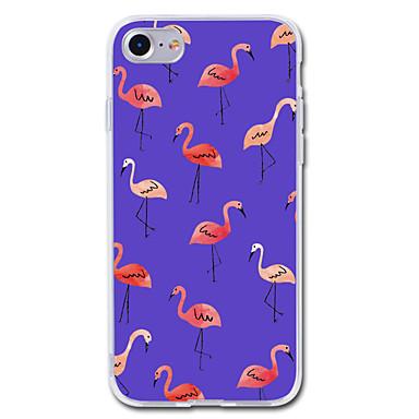 Maska Pentru Apple iPhone 7 Plus iPhone 7 Transparent Model Capac Spate Flamingo Animal Moale TPU pentru iPhone 7 Plus iPhone 7 iPhone 6s