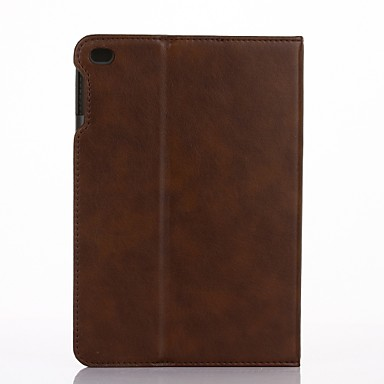 pentru portbagaj capac portbagaj cu suport stand flip auto somn / trezesc carcasă plin corp solid culoare hard piele pu pentru Apple ipad
