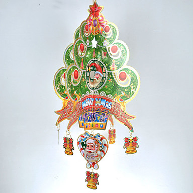 창조적 인 나무로 크리스마스 트리 장식 3 차원 모델 바탕 화면 장식