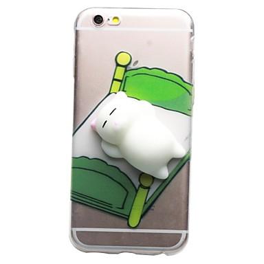 Pentru iPhone 7 iPhone 7 Plus Carcase Huse Transparent Model Reparații squishy Carcasă Spate Maska Pisica Desene 3D Moale TPU pentru Apple