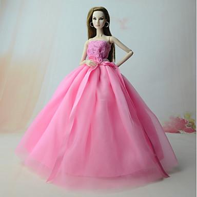 Rochii Rochii Pentru Barbie Doll Satin/Tul Poli/Bumbac Rochie Pentru Fata lui păpușă de jucărie