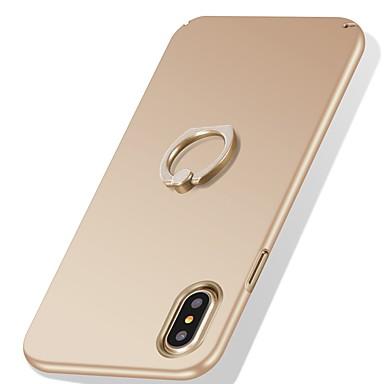 Pentru iPhone X iPhone 8 iPhone 8 Plus Carcase Huse Anti Șoc Suport Inel Ultra subțire Carcasă Spate Maska Culoare solidă Greu PC pentru