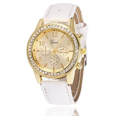 Pentru femei Ceas Elegant  Ceas de Mână Simulat Diamant Ceas Chineză Quartz imitație de diamant PU Bandă Charm Casual Elegant Negru Alb