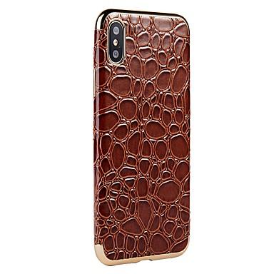 Apple iPhone Custodia Plus Per Per iPhone Geometrica iPhone sintetica retro X iPhone 8 Placcato 06300787 8 pelle per iPhone Morbido X 8 ax5qxF