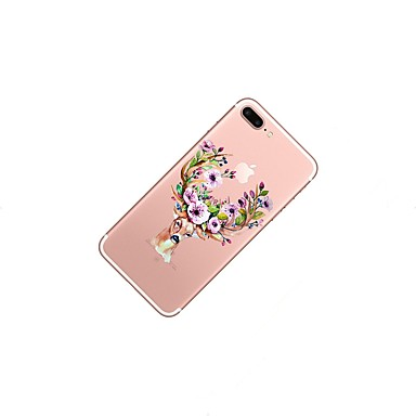 Morbido iPhone iPhone Plus 06293345 Plus 8 Per Per TPU 8 8 X per Custodia disegno Animali iPhone iPhone X 8 Fantasia Apple iPhone Transparente Natale iPhone retro IEAw8a