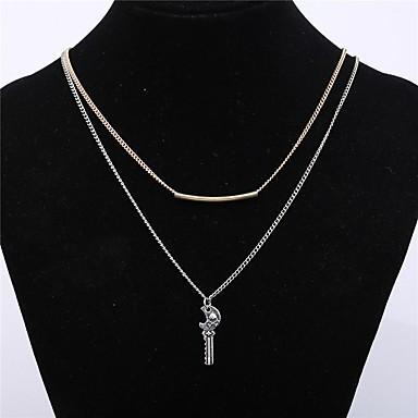 Недорогие Модные ожерелья-Жен. Ожерелья с подвесками Классический Мода Сплав Серебряный Ожерелье Бижутерия 1шт Назначение Повседневные