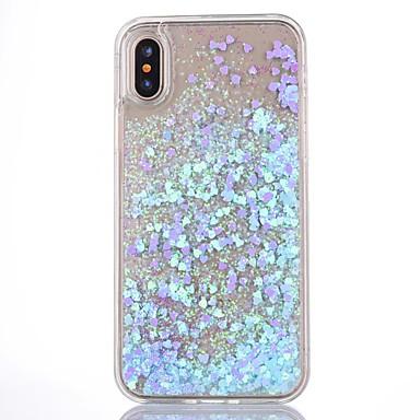 Voor iPhone X iPhone 8 iPhone 8 Plus iPhone 5 hoesje Hoesje cover Stromende vloeistof Transparant Achterkantje hoesje Glitterglans Hard PC