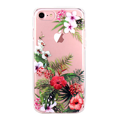 Carcasă Pro Apple iPhone X iPhone 8 iPhone 8 Plus Ultra tenké Průhledné Vzor Zadní kryt Květiny Měkké TPU pro iPhone X iPhone 8 Plus