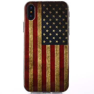 Coque Pour Apple iPhone X iPhone X IMD Coque Drapeau Brillant Flexible TPU pour iPhone X