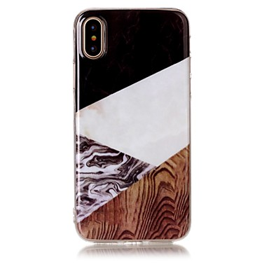 legno per Simil marmo IMD disegno Apple TPU 06290613 Morbido Effetto 8 Per iPhone X iPhone retro Per Fantasia iPhone Custodia iPhone X Plus 8 Z4qwFzR