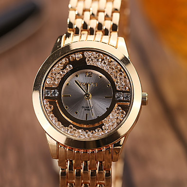 Női Lebegő kristály karóra Divatos óra Karóra Kvarc / ötvözet Zenekar Alkalmi elegáns Menő Ezüst Arany