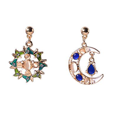 Γυναικεία Ασύμφωνα σκουλαρίκια θαυμαστής σκουλαρίκια Στρας Βίντατζ Αναντιστοιχία Euramerican Οπάλιο Κράμα MOON Κοσμήματα Χρυσό Καθημερινά