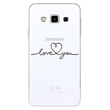 voordelige Galaxy S-serie hoesjes / covers-hoesje Voor Samsung Galaxy S2 / A3 (2017) / A5 (2017) Patroon Achterkant Woord / tekst Zacht TPU