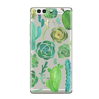 voordelige Huawei Mate hoesjes / covers-hoesje Voor Huawei P9 / Huawei P9 Lite / Huawei P8 P10 Plus / P10 Lite / P10 Transparant / Patroon Achterkant Transparant / Boom / Bloem Zacht TPU / Huawei P9 Plus / Mate 9 Pro