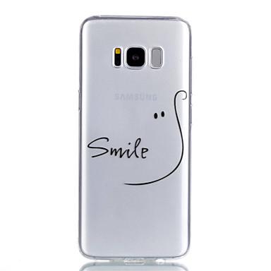 Pouzdro Uyumluluk Samsung Galaxy S8 Plus / S8 Şeffaf / Temalı Arka Kapak Kelime / Cümle Yumuşak TPU için S8 Plus / S8 / S7 edge