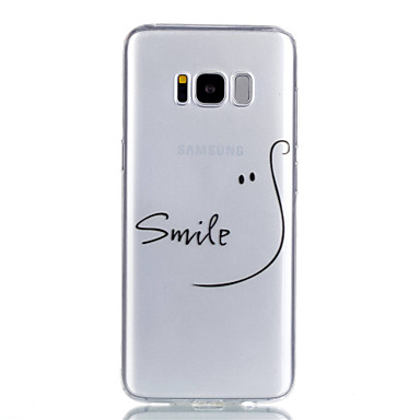 voordelige Galaxy S-serie hoesjes / covers-hoesje Voor Samsung Galaxy S8 Plus / S8 / S7 edge Transparant / Patroon Achterkant Woord / tekst Zacht TPU