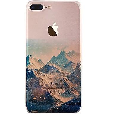 Capinha Para iPhone X iPhone 8 Ultra-Fina Transparente Estampada Capa Traseira Cenário Macia TPU para iPhone X iPhone 8 Plus iPhone 8