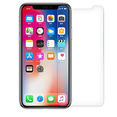 voordelige iPhone X screenprotectors-Screenprotector voor Apple iPhone X Gehard Glas 1 stuks High-Definition (HD) / 9H-hardheid / 2.5D gebogen rand