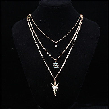 cheap Necklaces-Women's Pendant Necklace Star Anchor Basic Fashion Alloy Gold Necklace Jewelry 1pc For Daily Casual
