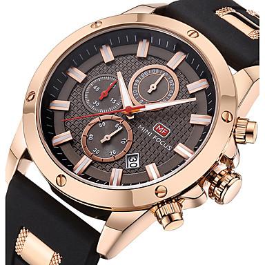 levne Pánské-Pánské Sportovní hodinky Náramkové hodinky Letecké hodinky japonština Křemenný Silikon Černá / Modrá 30 m Kalendář Stopky Svítící Analogové Luxus Na běžné nošení Módní - Kávová Modrá Káva / stříbro
